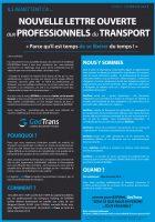 Lettre ouverte aux professionnels du Transport
