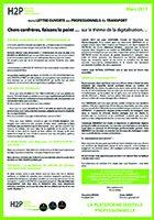 6ème lettre ouverte aux professionnels du transport